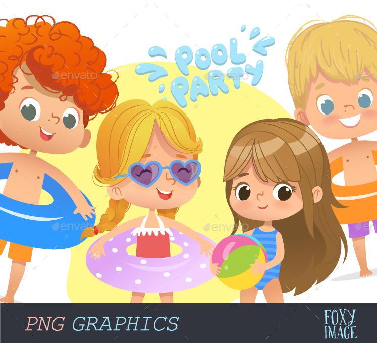 Pool Party Kids Set2.