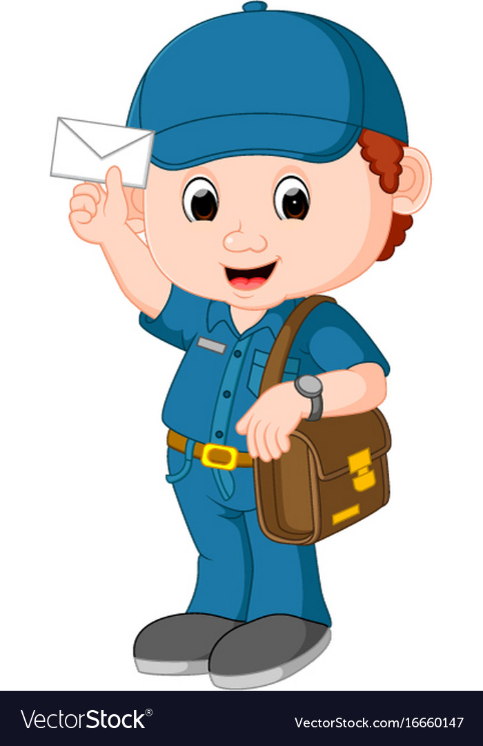 Postman cartoon.