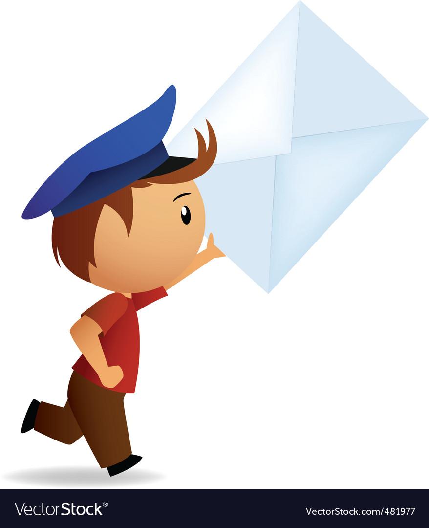 Cartoon postman.