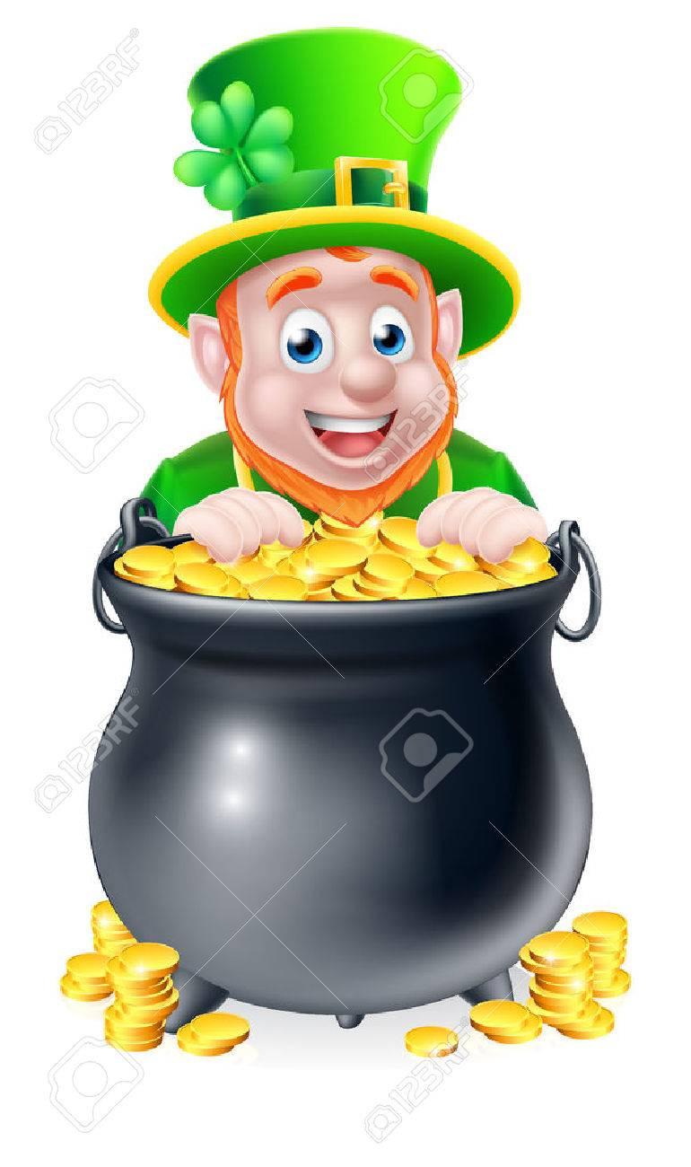 Cartoon Pot Of Gold Clipart.