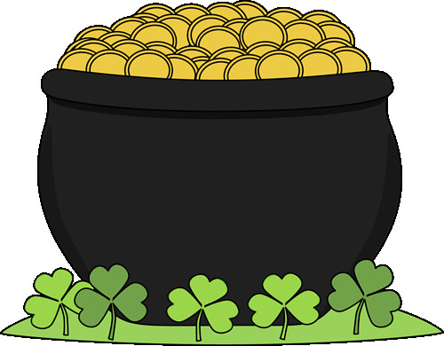 Rainbow And Pot Of Gold Clipart at GetDrawings.com.
