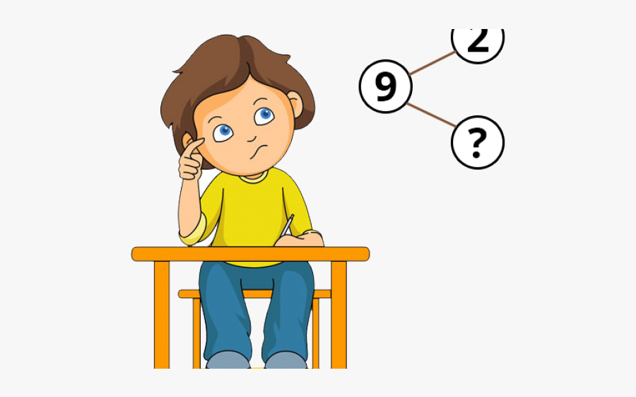 Cartoon Solving Math Problems , Free Transparent Clipart.