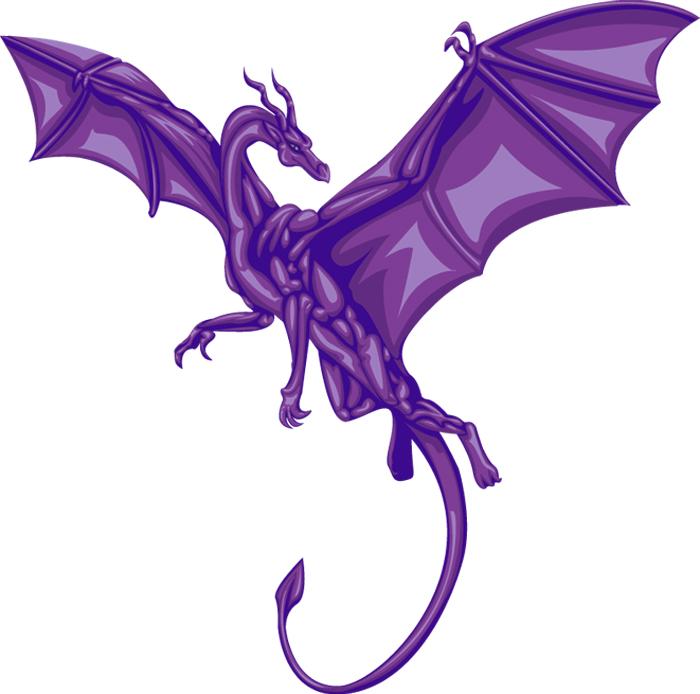 Purple Dragon Clipart.