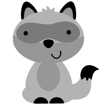 Cute running raccoon clipart.