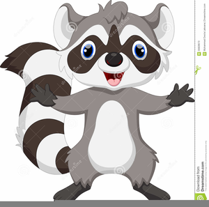 Animated Raccoon Clipart.