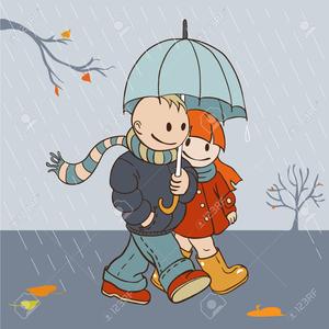 Cartoon Rainy Day Clipart.