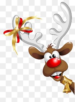 Christmas Reindeer, Christmas, Reindeer, Cartoon PNG.