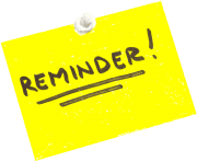 REMINDER Clipart Free Images.