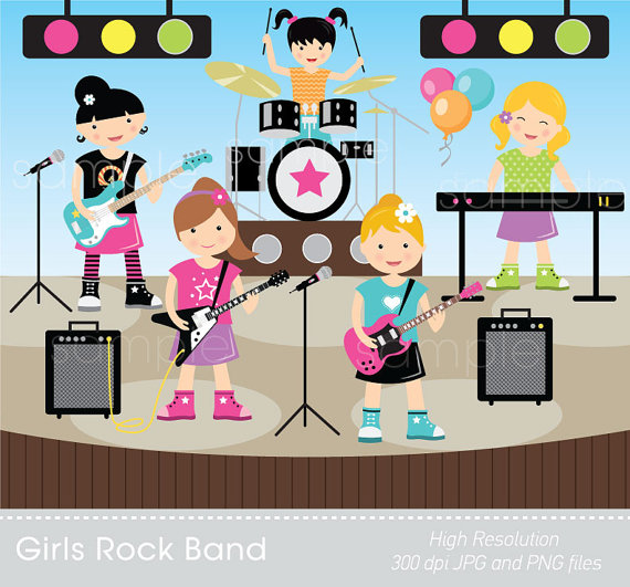 Band clipart kids rock, Band kids rock Transparent FREE for.