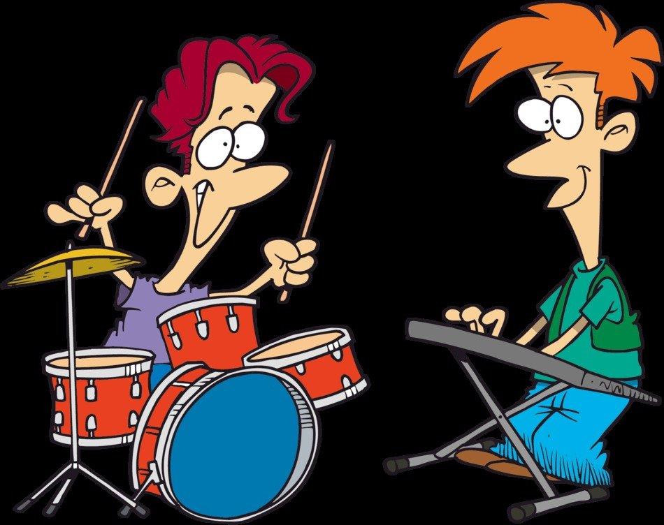Cartoon Rock Band Clip Art free image.