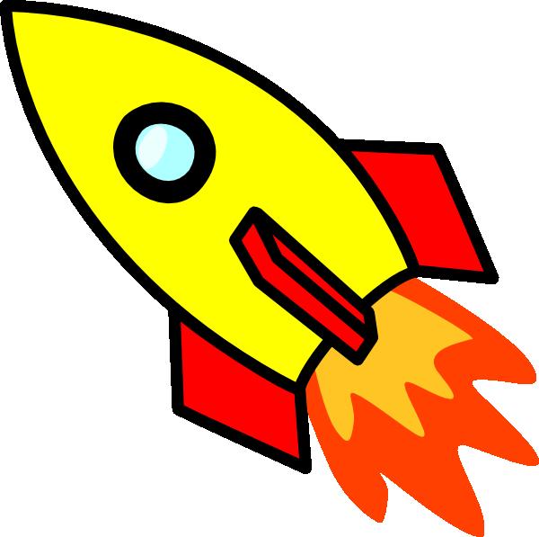 Cartoon Image Of Rocket.