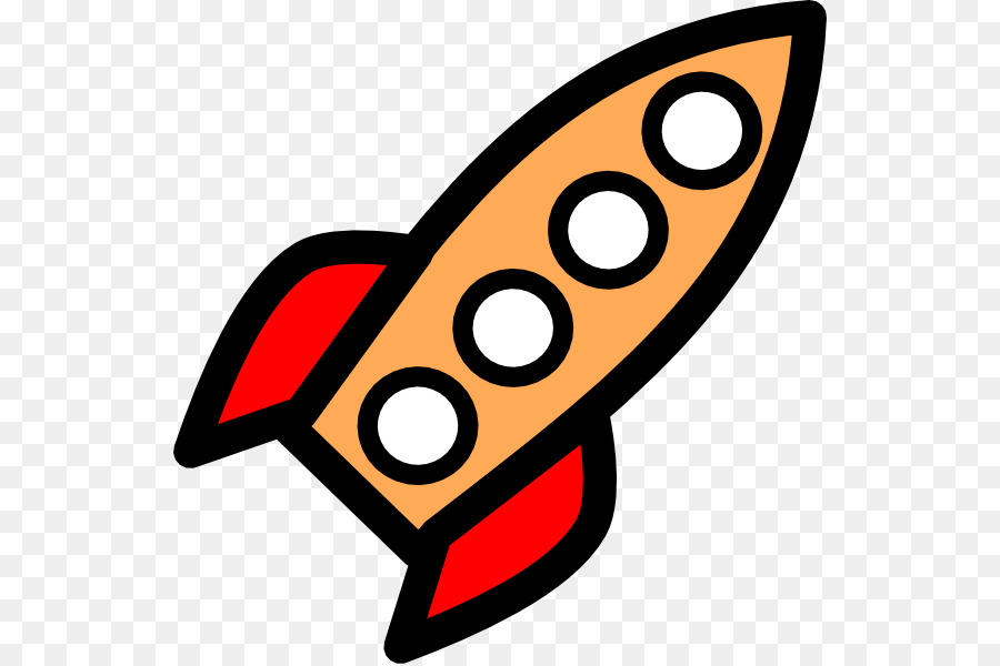 Cartoon Rocket clipart.