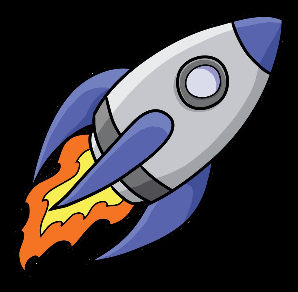 Free to Use Public Domain Rocketship Clip Art.