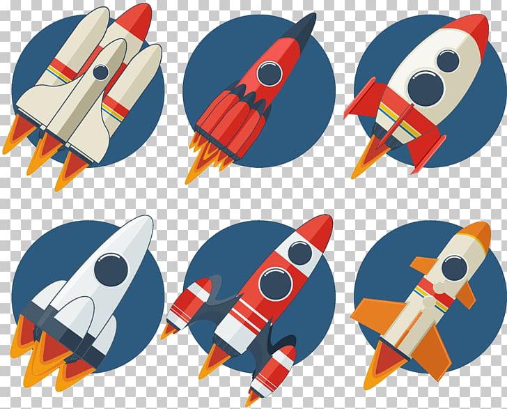 Rocket launch Spacecraft Cartoon, Space Rocket PNG clipart.