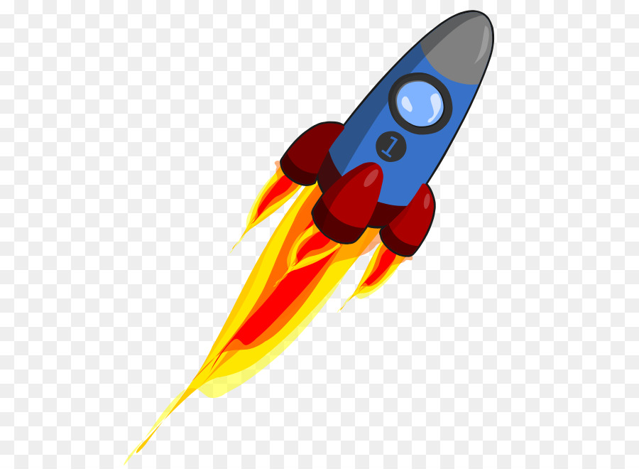 Cartoon Rocket png download.