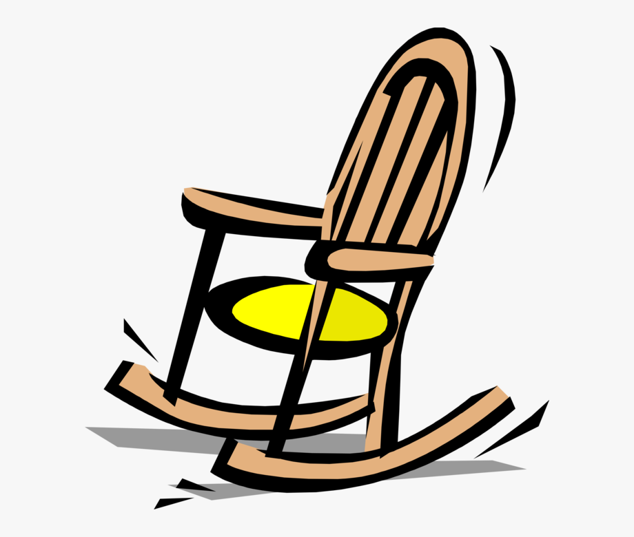 Vector Illustration Of Gentle Motion Rocking Chair.