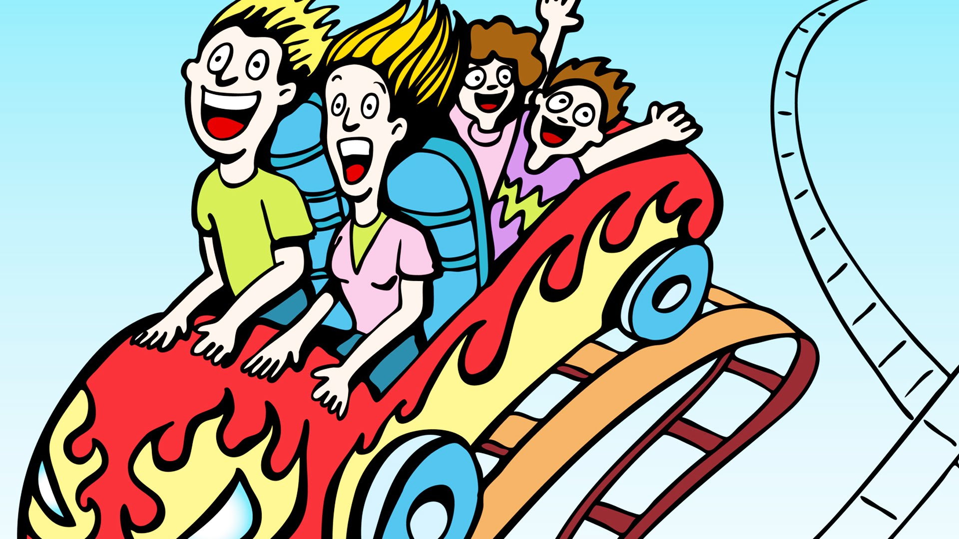 Roller Coasters Clipart.
