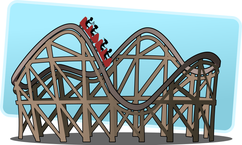 Animated roller coaster clipart.