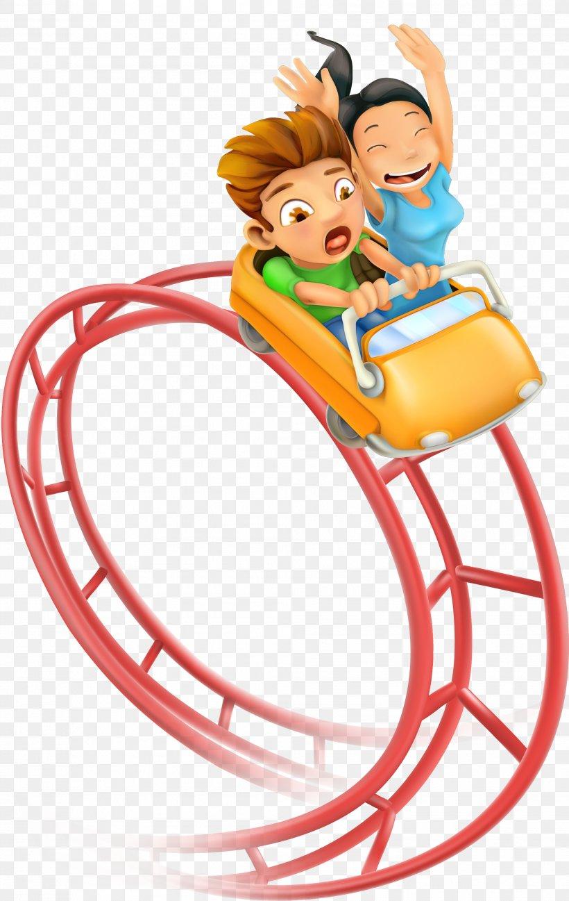 Roller Coaster Amusement Park Clip Art, PNG, 1987x3143px.