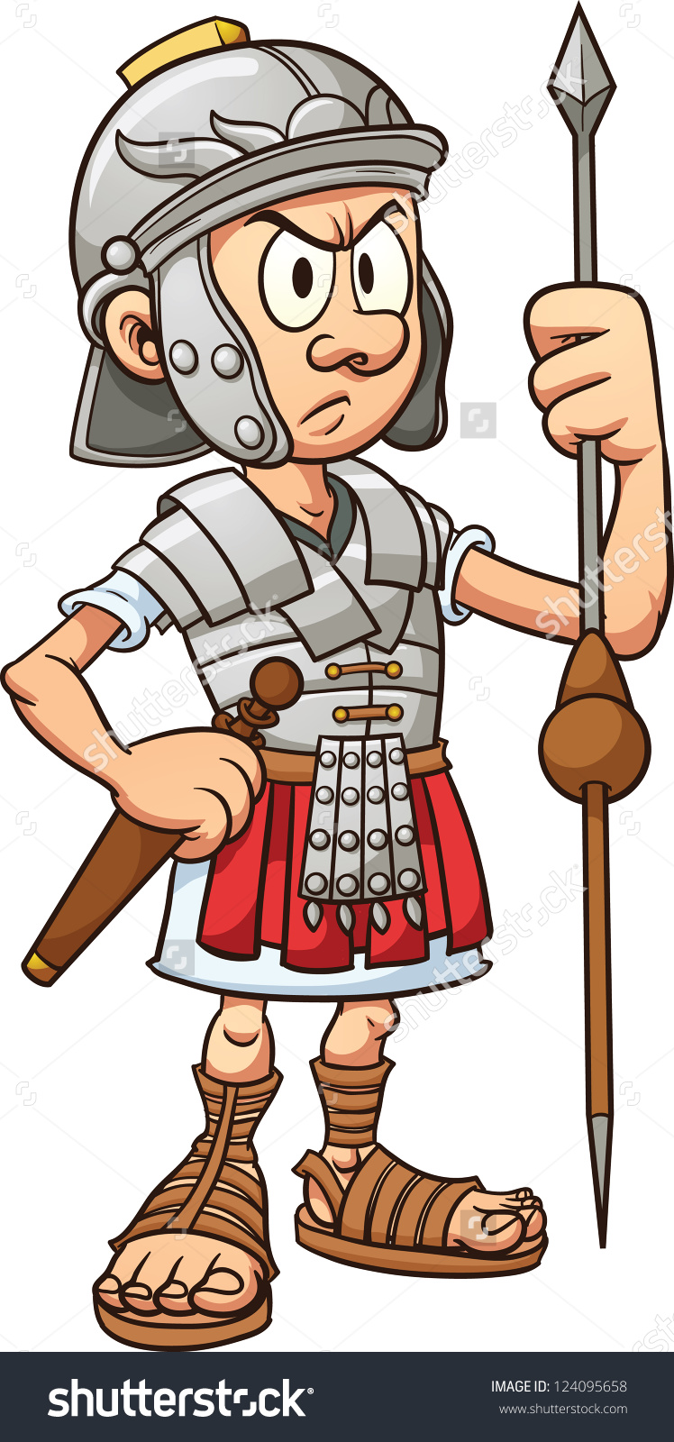 Cartoon Roman Soldier Clipart.