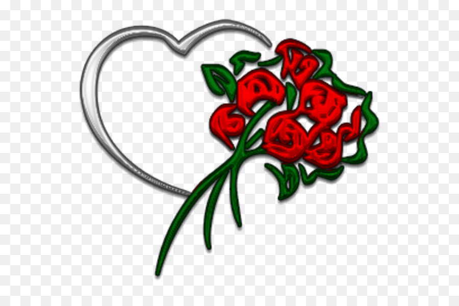 Rose Love Flowers clipart.