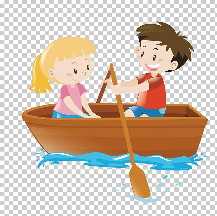 Rowing Boat PNG, Clipart, Art, Boat, Boy, Canoe, Cartoon.