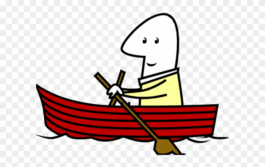 Row Boat Clipart Red.