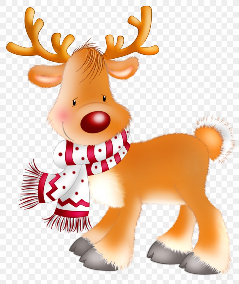 Rudolph Santa Claus\'s Reindeer Christmas Clip Art, PNG.