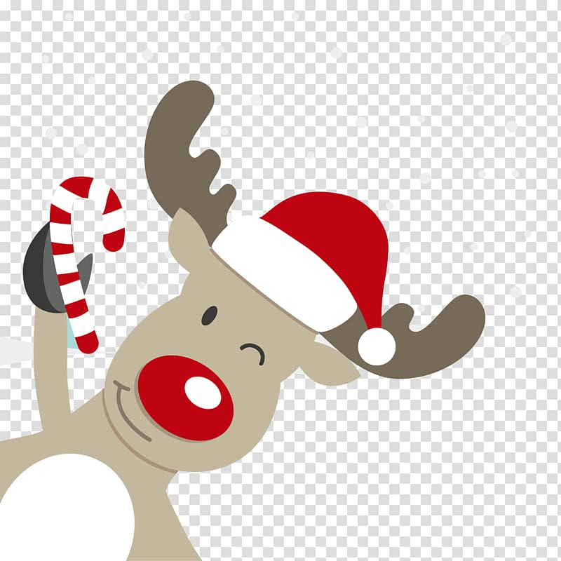 Rudolf the red nose reindeer art, Rudolph Reindeer Santa.