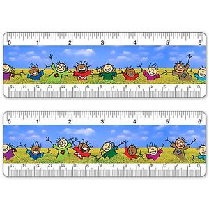 Details about Ruler Bookmark 6 Inch Animated Lenticular Children Dancing in  Field #RU06.