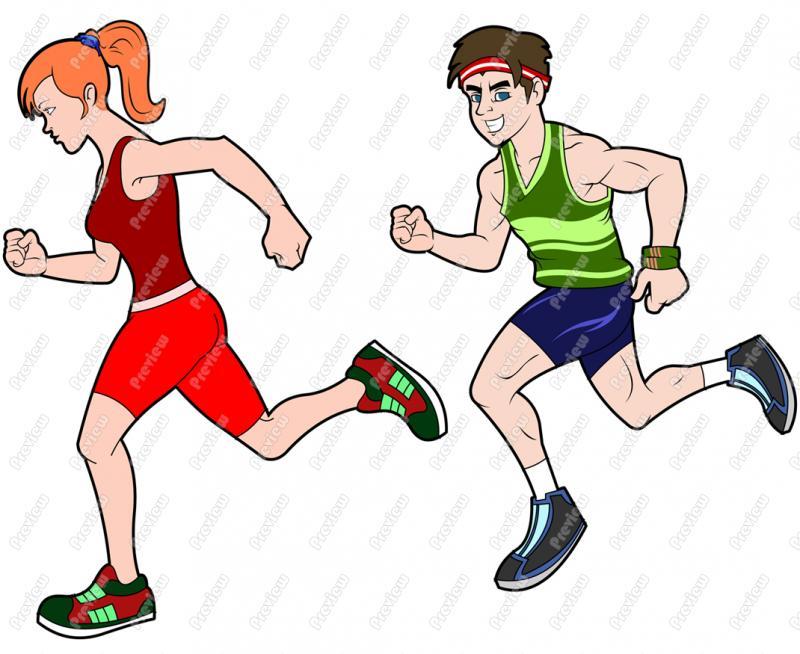 2188 Runner free clipart.
