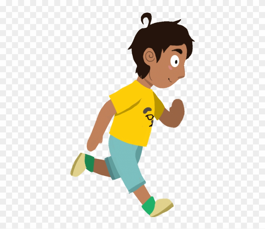 Cartoon Boy Running Gif Clipart (#1292240).