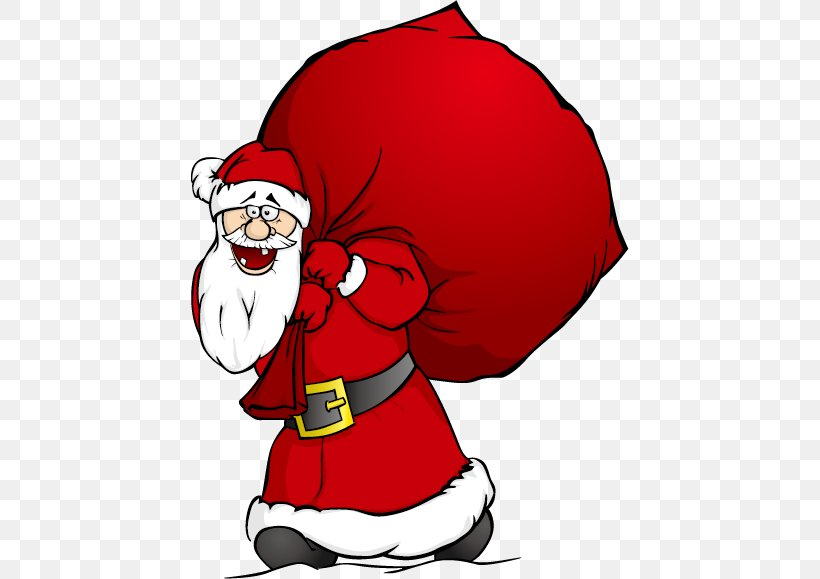 Santa Claus Cartoon Gift, PNG, 438x579px, Santa Claus.