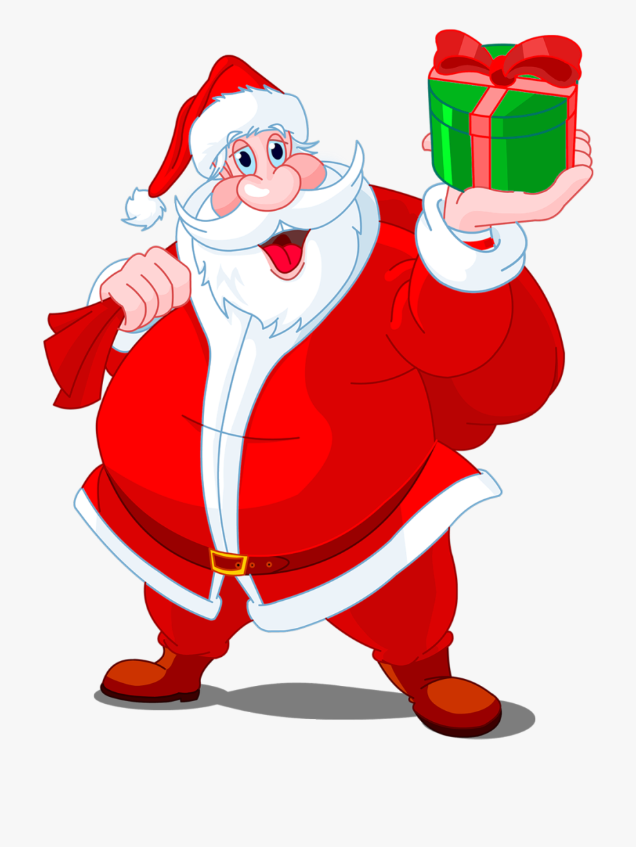 Santa Hat Clipart Slanted.