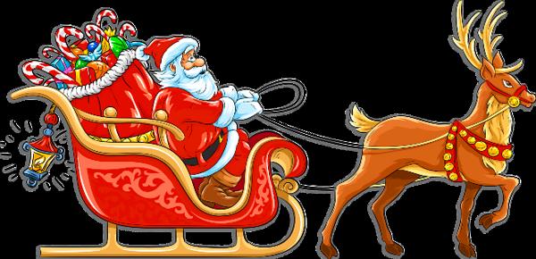 Santa Sleigh Clipart.