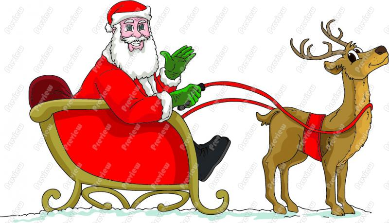 Showing post & media for Cartoon santa sleigh.
