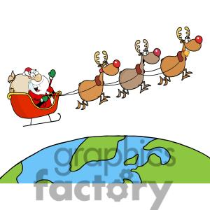 Showing post & media for Sleigh and reindeer cartoon.