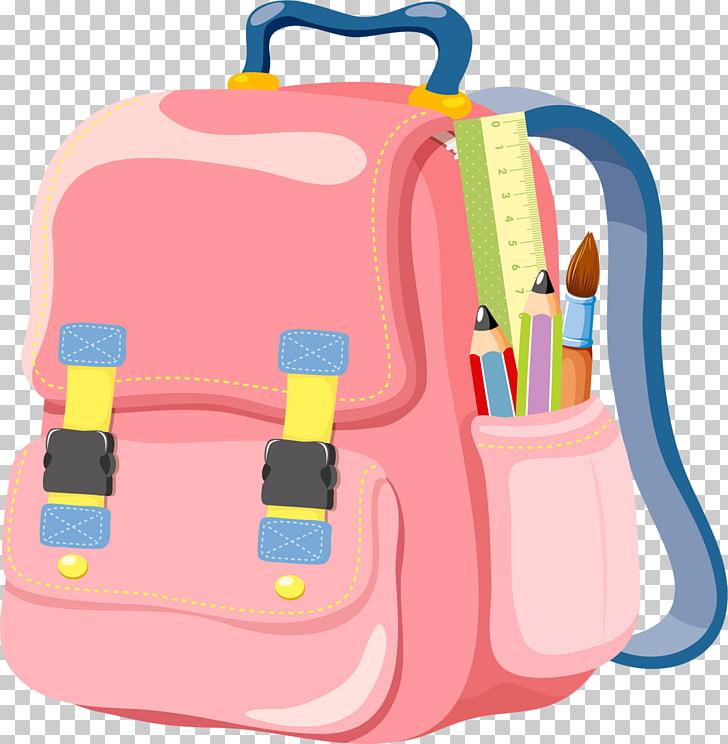 Bag School Backpack , Cartoon schoolbag, pink backpack.
