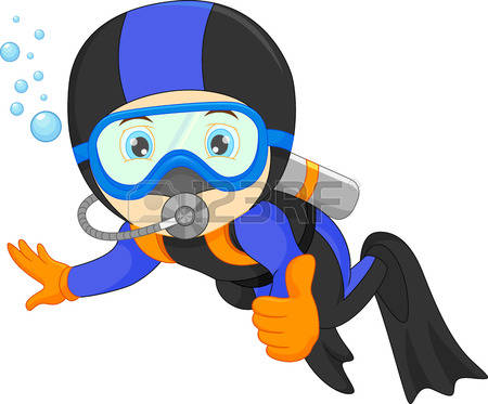 318 Diver free clipart.