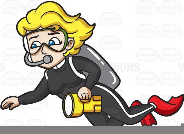Animated Scuba Diver Clipart.