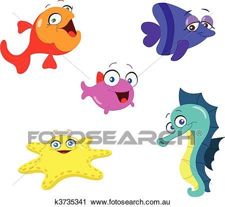 Sea creatures Clipart.