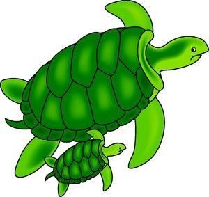 Cute Sea Turtle Clip Art.
