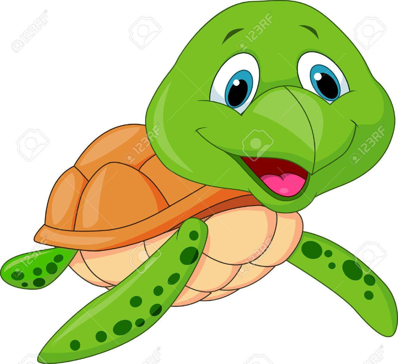 Cartoon turtle clipart.