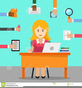 Animated Secretary Clipart.
