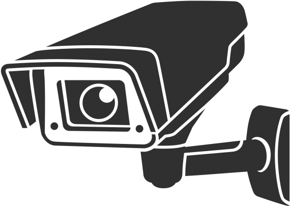 Transparent Security Camera Icon.