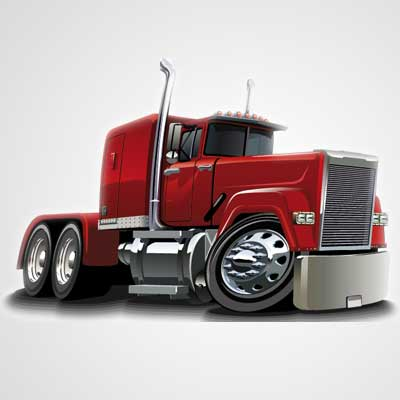Vector Cartoon Semi Truck Clipart Picture Free Download.