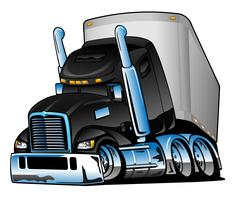 Semi Truck Free Vector Art.