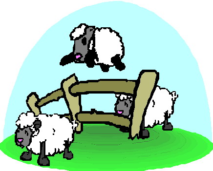 Sheep animated clipart.