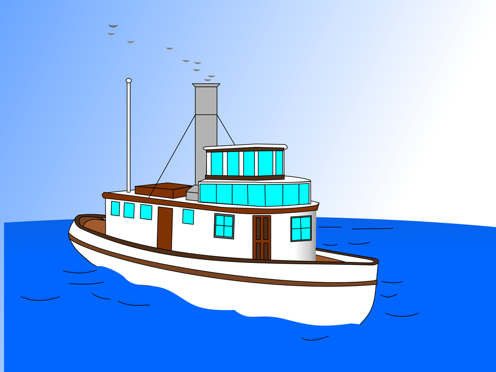 Motor Ship,Watercraft,Naval Architecture Vector Clipart.