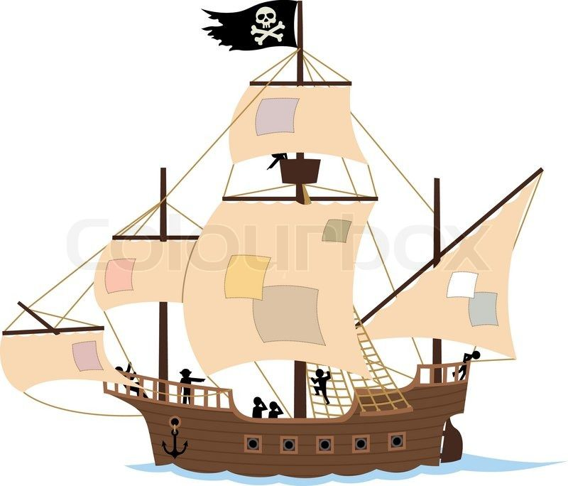 Pirate Ship Clip Art.
